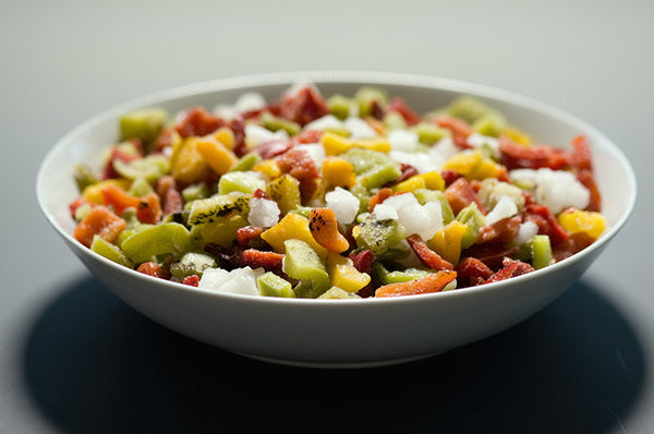 Fire Roasted Diced Peppers & Onions