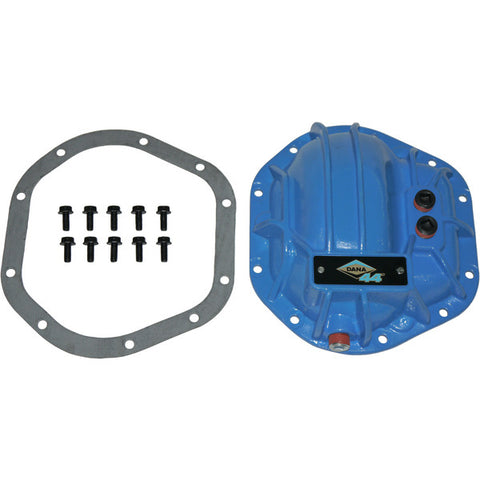 Dana 44 / Dana Super 44 Low and High Pinion Nodular Iron Differential Cover With Hardware and Gasket Blue