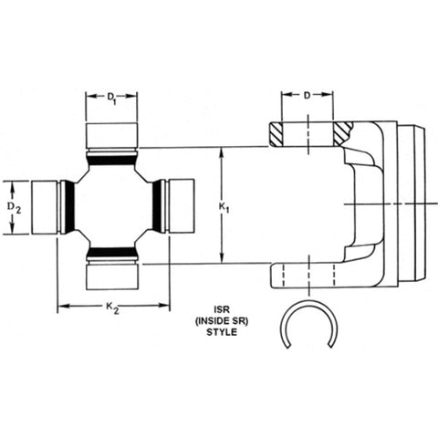 Spicer SPL70-1550XC Universal Joint Inside Snap Ring 1550