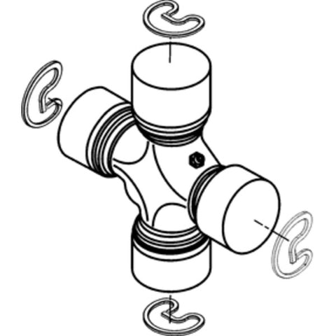 spicer 5 178x universal joint outside snap ring 1350 series 1974 Ford Pickup spicer 5 178x universal joint outside snap ring 1350 series greaseable