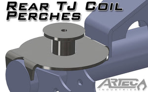 Jeep TJ Rear Coil Perches And Retainers 97-06 Wrangler TJ Pair 3.5 Inch Axle Tube Diameter