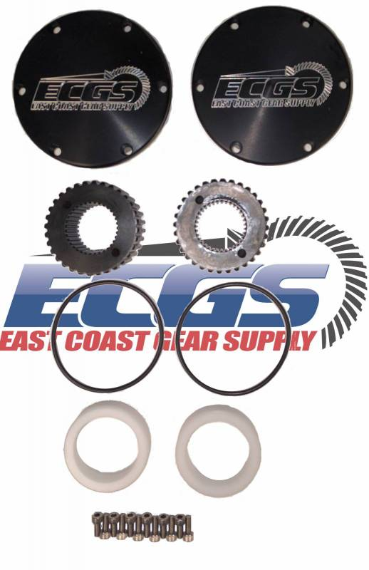 Dana 60 Ford 2005+ Drive Flange Kit 35 Spline Heat Treated Chromoly