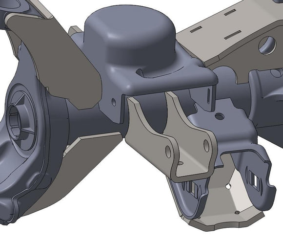 JK Front Lower Shock Mounts