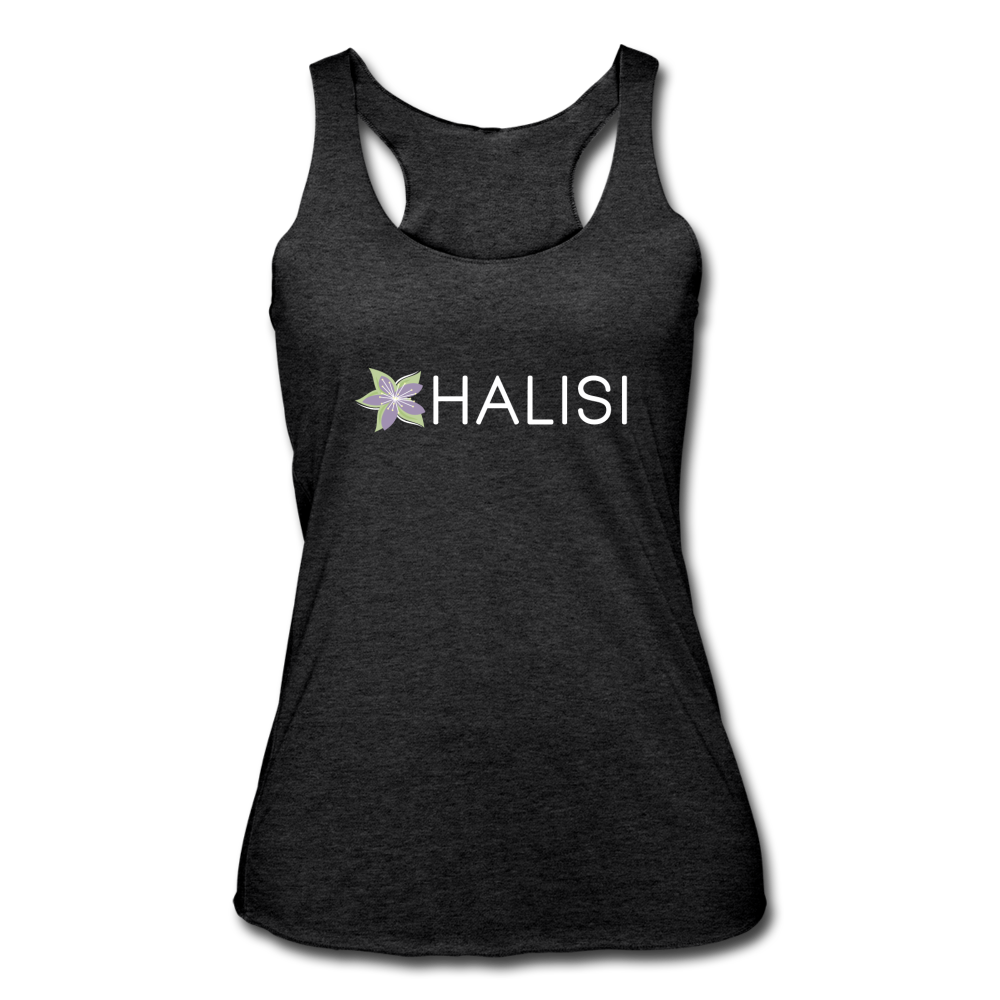 Women's Tri-Blend Racerback Tank - heather black