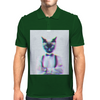 3D catman, Hipster cat style Mens Polo