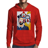 ABSTRACT CLOWNS IN SHOCK Mens Hoodie