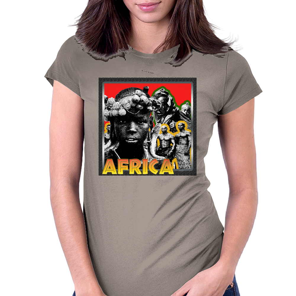 Africa's Youth Womens Fitted T-Shirt