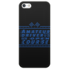Amateur Driver on an Open Course racing logo. Phone Case