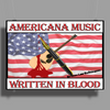 Americana Music, Written In Blood Poster Print (Landscape)