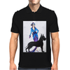 ART DECO, FLAPPER AND DOG Mens Polo