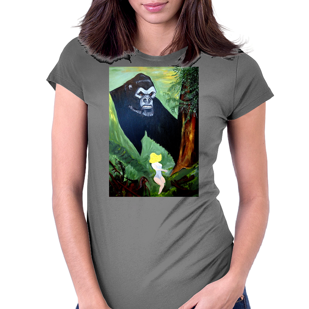 BEAUTY AND THE BEAST Womens Fitted T-Shirt