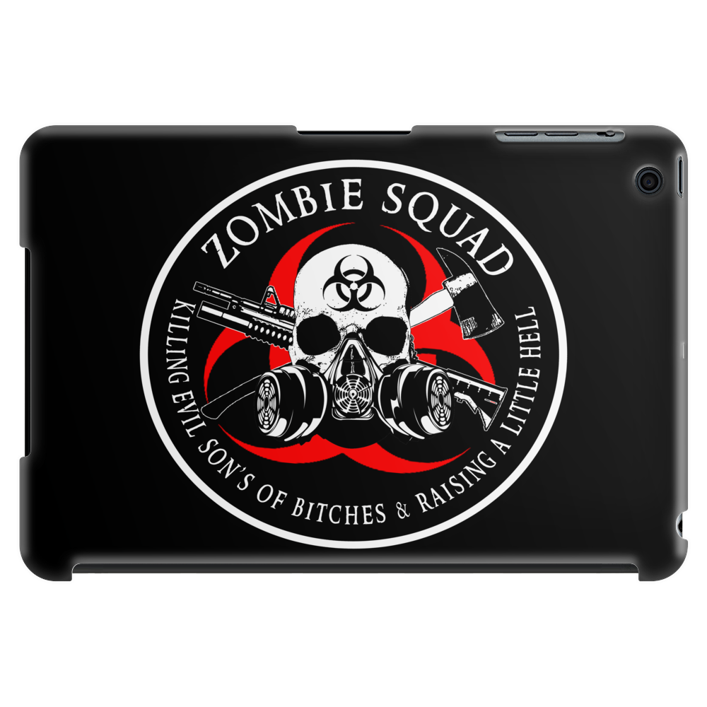 Biohazard Zombie Squad 3 Ring Patch outlined 2 Tablet (horizontal)