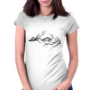 Black and White birds Womens Fitted T-Shirt