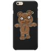 Black Metal Teddy Bear Phone Case