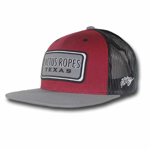 HOOEY Cactus Ropes Cap- Maroon Grey – Ark Country Store a8a4d50079e