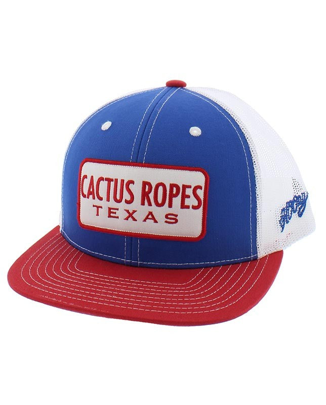 HOOEY Cactus Ropes Cap- Red/White/Blue