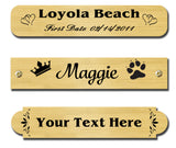 "0.5"" H x 2.5"" W, Satin Brass Name Plate - enmengraving"