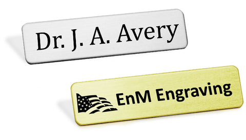 Heavy Gauge Military Style Name Badge - enmengraving