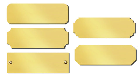"0.875"" H x 2.5"" W, Polished Brass Blank Name Plates - enmengraving"