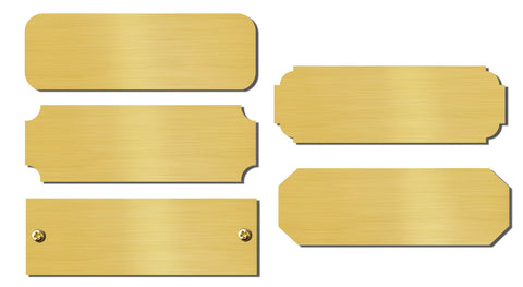"0.875"" H x 2.5"" W, Satin Brass Blank Engravable Name Plate"