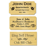 "3.5"" H x 6"" W, Satin Brass Name Plate - enmengraving"