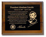 "8""x10"" Memorial Plaque with Engraved Photo, Black Color Brass Plates Gold Text, Custom Engraved"