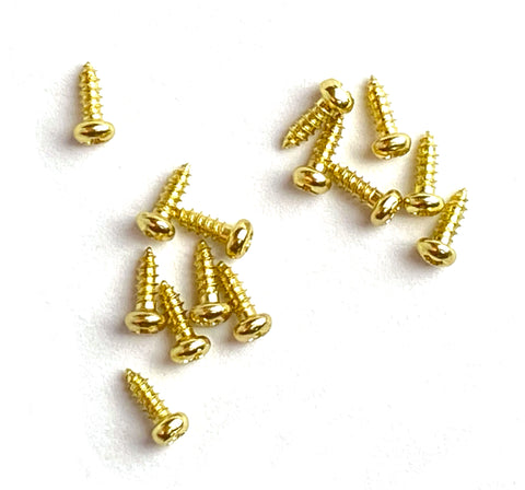"#2 x 1/4"" Gold Color Phillips Round-Head Wood Screws"