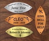 "Tree of Life Nameplate Leaves, Donor Recognition Walls, Perpetual Plaque, Fundraiser, Personalized Custom Engraved Label Art Tag for Frames, Made to Order, Made in USA, 1-9/16"" x 4"" - enmengraving"