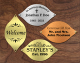"Tree of Life Nameplate Leaves, Donor Recognition Walls, Perpetual Plaque, Fundraiser, Personalized Custom Engraved Label Art Tag for Frames, Made to Order, Made in USA, 1-7/8"" x 3-1/4"" - enmengraving"