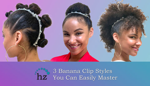 banana clip styles for thick curly hair