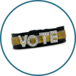 Vote Wristband + Ponytailer