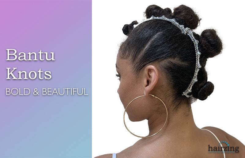 Bantu Knots with Banana Clip New Thick Curly Hairstyle