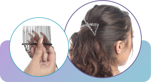 How to use a Hairzing upzing double comb