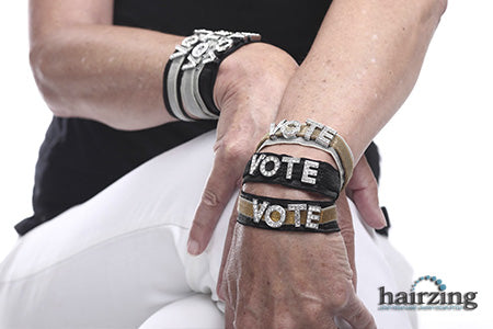 Vote Wristband that Sparkles by HairZing