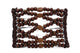 Fiji Wood Beaded Wire Comb for Thick Curly Hair