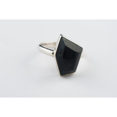 Pentagon Black Jade Ring