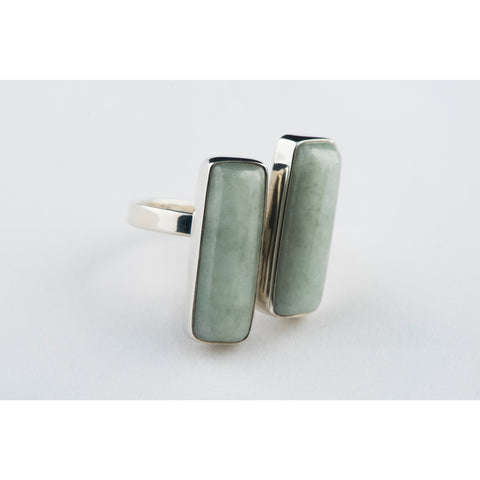 Double Rectangle Open Ring