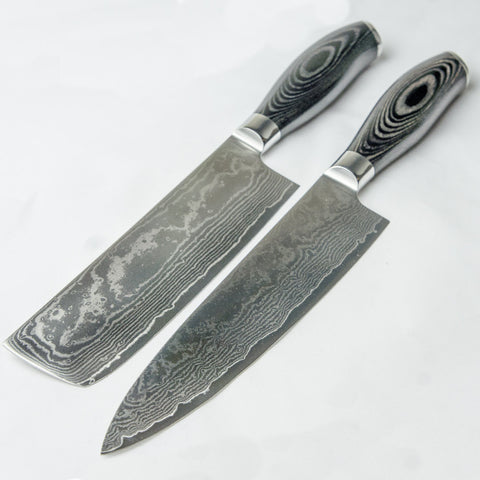 Damascus Steel Cleaver set