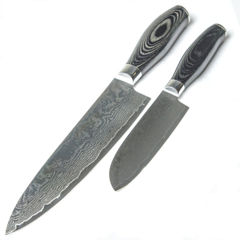 Damascus Steel Knife Chef Santoku