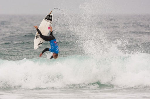 With so many airs being busted  out, there's bound to be some big crashes, Tanner takes one on the head for the team.