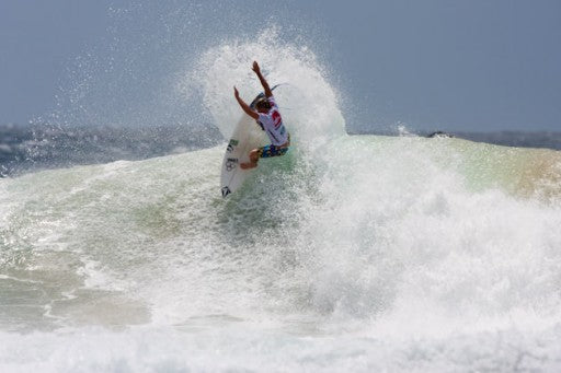 Dusty Payne proved his new school style of surfing is the way of the future.