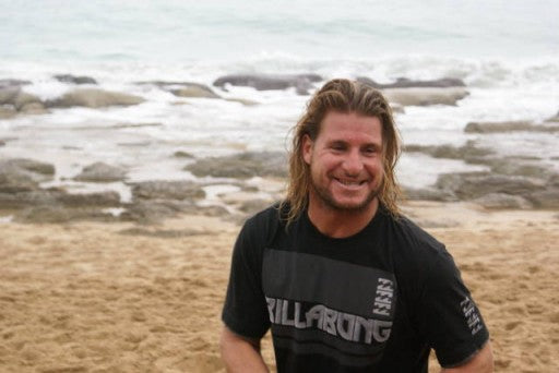 Occy was all smiles, and just loves being in the water with Tom!