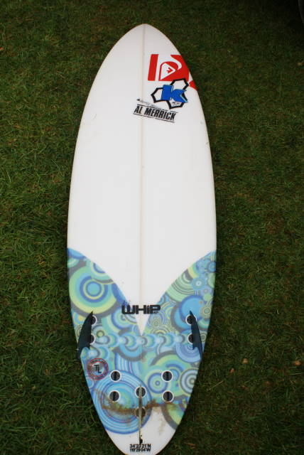 Here is a bottom shot of the same board. This was one of the new boards that was made for him and brought over from California days before the event started.