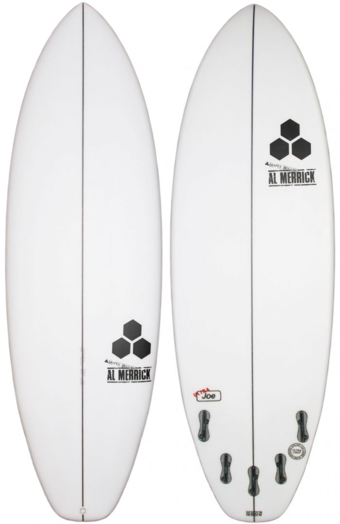 Ultra Joe Surfboard with FCS - Top and Bottom view