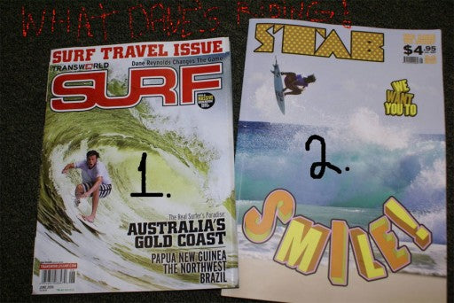 Dane Reynolds on the cover of Transworld SURF and STAB
