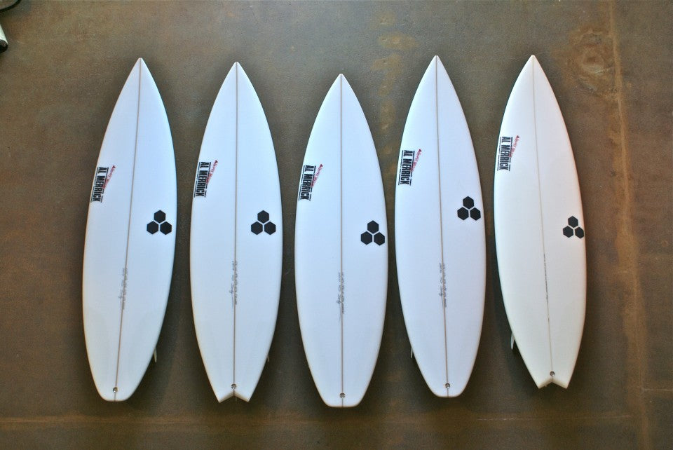 Jordy Smith's Quiver for The Quiksilver Pro Gold Coast 2012