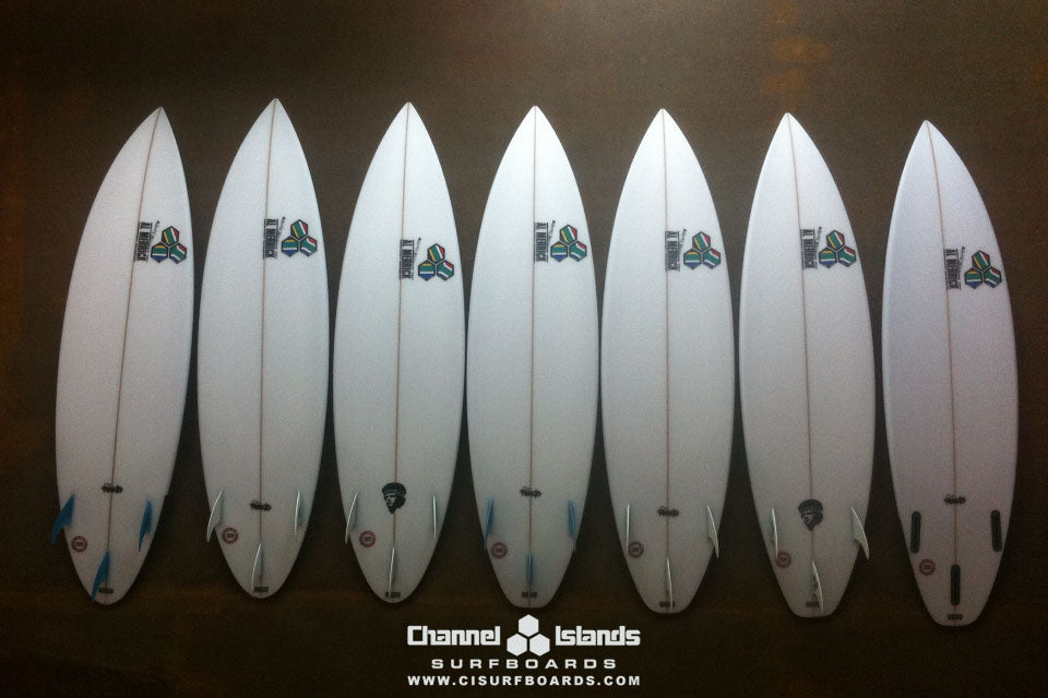 Jordy Smith's Quiver for Jeffreys Bay 2011 Bottoms