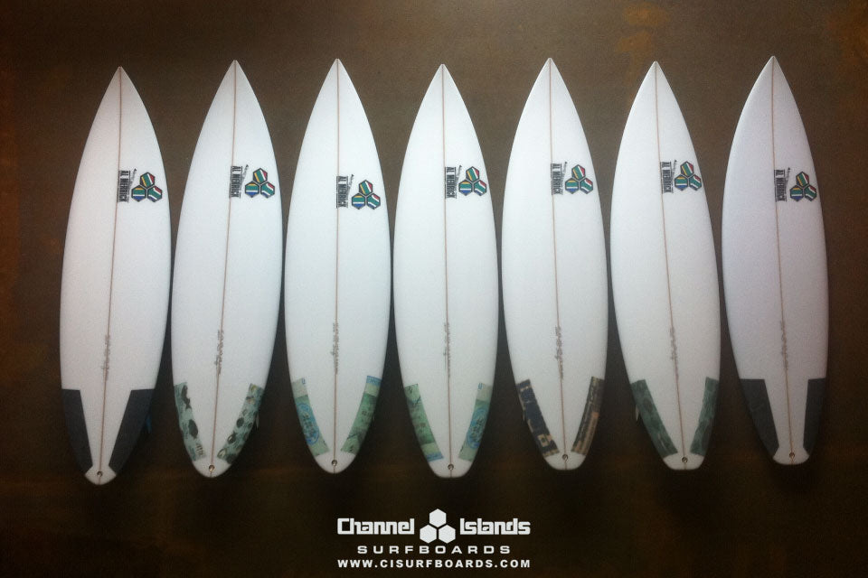 Jordy Smith's Quiver for Jeffreys Bay 2011
