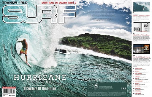Kelly Slater on Cover of TransWorld SURF