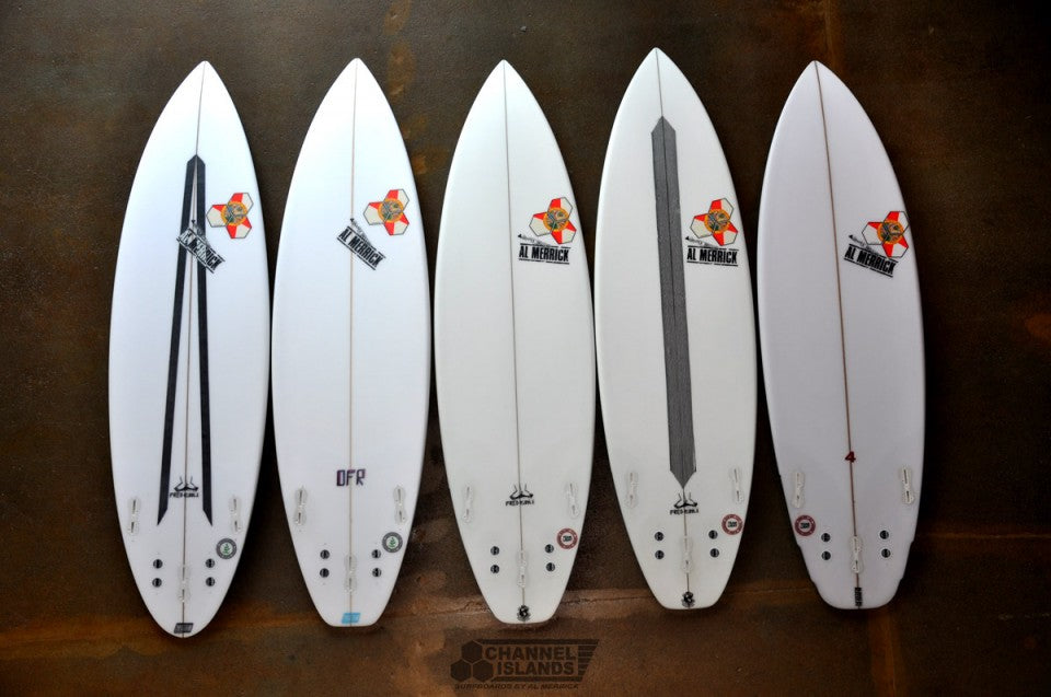 Kelly Slater's Quiver for The Quiksilver Pro Gold Coast 2013 bottoms